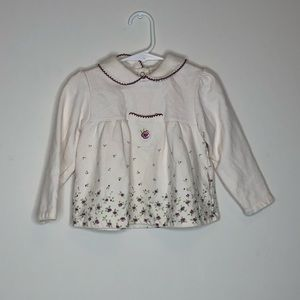 18-24 month girl long sleeve floral top
